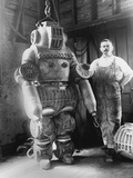 Diver with Diving Suit Photographic Print by Robert G. Skerrett