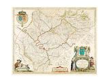 Le Guuernement De L'Isle De France / L'Isle De France 1631-1665 Giclee Print by Willem Janszoon Blaeu