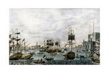 Veduta Del Porto Di Venezia Detto Del Lido 1571 Giclee Print by Francesco Tironi