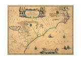 Virginiae Partis Australes Et Floridae Partis Orientalis, Circa 1640 Giclee Print by Willem Janszoon Blaeu