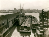 Rail Cars on Barges, 1920S Photographic Print by Edwin Levick
