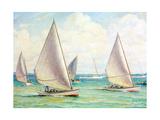 Chesapeake Bay Crabbing Skiffs Giclee Print by Louis Feuchter