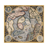 Septentrionalium Terrarum Descriptio 1569 Giclee Print by Gerard Mercator