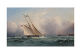 American Schooner Entering Portsmouth Harbor Giclee Print by James Edward Buttersworth