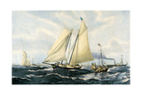 Yacht America Giclee Print by Oswald W. Brierly