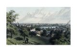 City of Providence from Prospect Hill, 1872 Giclee Print by Asa Coolidge Warren
