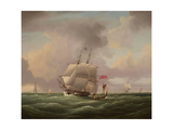 Hms Apollo Off Eddystone Giclee Print by James Edward Buttersworth