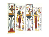 Emblematic Figures Taken from the Tomb of Psammuthis Giclee Print by Giovanni Battista Belzoni