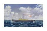 American Steam Tug Martha Giclee Print by James Bard