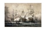 Episode Du Combat De Trafalgar Giclee Print by Ferdinand Victor Perrot