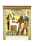 Tableau in the Tomb of Psammuthis, When Hero Is Represented to the God Osiris Giclee Print by Giovanni Battista Belzoni