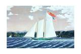 Schooner Robert Knapp Giclee Print by James Bard