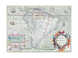 America Meridionalis 1620 Giclee Print by Jodocus Hondius