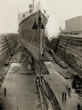 Majestic in Dry Dock Photographic Print by Edwin Levick