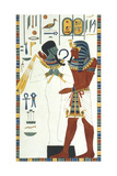 Tomb of Psammuthis: Osiris and Psammuthis Giclee Print by Giovanni Battista Belzoni