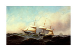 U.S. Navy Gunboat Adams Giclee Print by Antonio Jacobsen