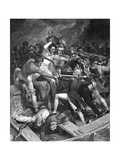 Nelson in Conflict at the Siege of Cadiz 1797 Giclee Print by W.h. Worthington