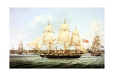 Shipping the Mersey Circa 1814 Giclee Print by Robert Salmon