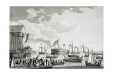 Launch of the Steam Frigate Fulton, the First, at New York, 1814 Giclee Print by John James Barralet