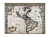 New World, 1626 Giclee Print by John Speed