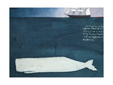 Moby Dick Giclee Print by Claus Hoie