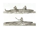 Canoes of Oonalashka Giclee Print by John Webber