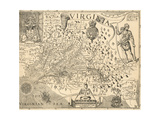 Map of Virginia Giclee Print by William Gilmore Simms