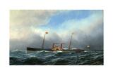 American Steamship Augusta Giclee Print by Antonio Jacobsen