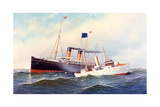 British Ship Majestic with Pilot Boat New York, 1898 Giclee Print by Antonio Jacobsen