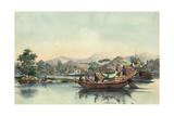 Bateau De Passage Chinois Entre La Douane De Tchynay and Canton - [Canton, China] Giclee Print by Auguste Borget