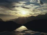 France, Lac Noir L'Alpe D'Huez, Evening Sun Photographic Print by  Thonig