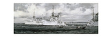Distinguished Visitors to Singapore Giclee Print by Montague Dawson