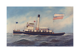 Tugboat Colonel E. A. Stevens Giclee Print by Antonio Jacobsen
