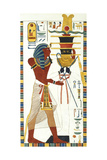Tomb of Psammuthis: Psammuthis and Amun-Ra Giclee Print by Giovanni Battista Belzoni