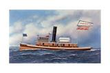 American Steam Tug John Nichols, 1899 Giclee Print by Antonio Jacobsen