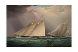 Dauntless and Sapho Rounding the Mark Giclee Print by James Edward Buttersworth