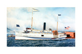 American Steamboat Tremont Giclee Print by Antonio Jacobsen