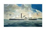 Side-Wheel Steamboat Senator Giclee Print by James Bard