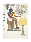 A Sitting Figure Taken from the Tomb of Psammuthis in Thebes Giclee Print by Giovanni Battista Belzoni