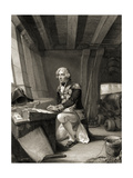 Lord Nelson at Prayer, 1805 Giclee Print by T.J. Barker
