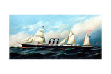 British Steamship City of New York Giclee Print by Antonio Jacobsen