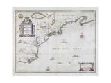 Nova Belgica Et Anglia Nova 1636-1650 Giclee Print by Jan Jansson