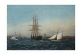 The Samar Entering New York Harbor Giclee Print by Antonio Jacobsen