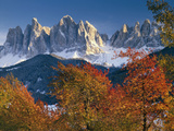 Italy, South Tirol, the Dolomites, Autumn Scenery, Geislerspitzen Photographic Print by  Thonig