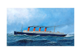 British Steamship Lusitania Giclee Print by Antonio Jacobsen
