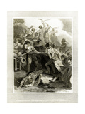 Nelson Storming a Post at San Juan Giclee Print by W.h. Worthington
