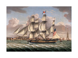 American Merchant Ship Aristides Giclee Print by Robert Salmon