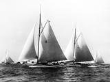 New York Yacht Club Yachts, New York 40'S Photographic Print by Edwin Levick