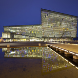 Concert Hall and Conference Centre Named Harpa, Reykjavik, Capital Region, Iceland Photographic Print by Rainer Mirau