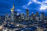 View at the Frankfurt Skyline at Dusk, Frankfurt Am Main, Hesse, Germany Photographic Print by Bernd Wittelsbach